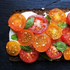 Melted mozzarella heirloom tomatoes and basil  I mean why reinvent the wheel? @inagartner