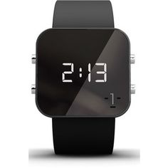 1:Face 'Cancer' Square Digital Silicone Strap Watch, 38mm