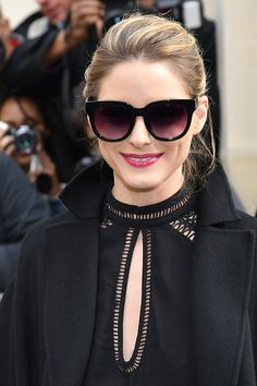 6622676dde14 Olivia Palermo is seen arriving at Dior fashion show during the Paris  Fashion Week Womenswear Fall