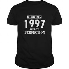 Cool 10 October 1997 October Born Birthday Aged to Perfection T Shirt Hoodie Shirt VNeck Shirt Sweat Shirt Youth Tee for womens and Men T-Shirts