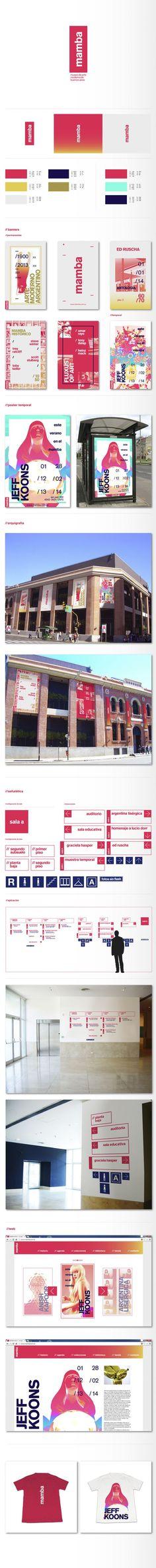 Museo de Arte Moderno de Buenos Aires | Identidad by Martin Pignataro, via Behance