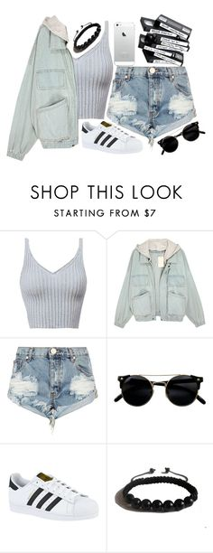 """""""Teenage Dirt Bag #76"""" by jlol ❤ liked on Polyvore featuring One Teaspoon, adidas and Shamballa Jewels"""