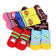 Kat+Hond+Sokken+Schattig+Casual/Dagelijks+Houd+Warm+Cartoon+Wit/Wit+Lichtgrijs+Willekeurige+kleur+zwart+++zwart+helderblauw+Voor+–+EUR+€+11.48