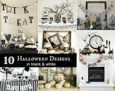 10 black & white Halloween designs