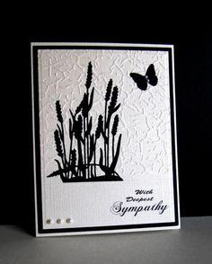 QFTD213 B&W Sympathy by catluvr2 - Cards and Paper Crafts at Splitcoaststampers