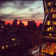 Hearst Tower @ Sunset  (Instagram photo by @mikelyden)