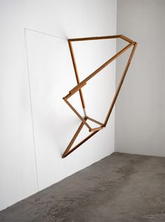 Paul Wallach Beginning to End, 2010 Wood, string, acrylic paint 227 x 197 x 115 cm