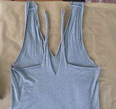 DIY No sew remodel T-shirt halter