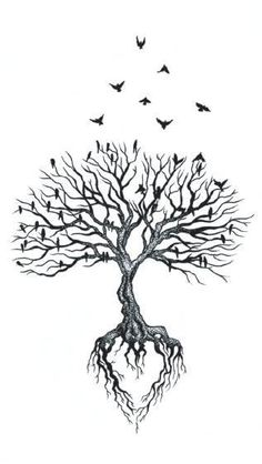 Waterproof Temporary Fake Tattoo Stickers Grey Vintage Tree Swallow Design Body … Waterproof Temporary Fake Tattoo Stickers Grey Vintage Tree Swallow Design Body Art Make Up Tools Tattoo Life, Roots Tattoo, Diy Tattoo, Tree Of Life Tattoos, Tattoos Of Trees, Small Tree Tattoos, Celtic Tree Tattoos, Fake Tattoos, Temporary Tattoos