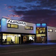 Evening view of Aurora Lighting Rotterdam Showroom & 34 best Aurora Lighting Global Showrooms images on Pinterest ...