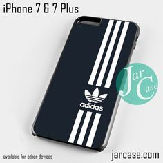 black straight adidas Phone case for iPhone 7 and 7 Plus