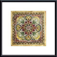 'Italian Tile III' by Ruth Franks Framed Painting Print