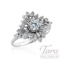 ESTATE 14K White Gold Diamond Ring, .50TDW | Tara Fine Jewelry Company, Atlanta. Gold Diamond Rings, White Gold Diamonds, Jewelry Companies, Atlanta, Fine Jewelry, Engagement Rings, Vintage, Enagement Rings, Wedding Rings