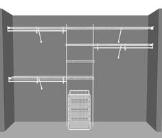 wire closet ideas. Delighful Wire SuperSlide Reach In Closet Package 4 To Wire Ideas O