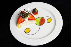 Gorgeous plated dessert