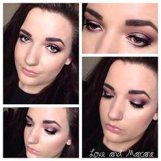 Purple Grey Smokey Eye Makeup