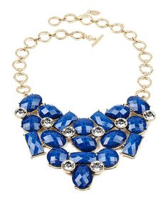 Another great find on #zulily! Austrian Crystal & Blue Lapis East Hampton Bib Necklace #zulilyfinds