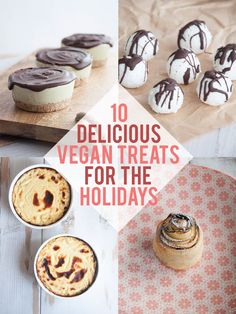 If you need some inspirations, you'll love these 10 Delicious Vegan Treats for the Holidays! Including fancy Apple Roses, Lemon Cheesecake and more...