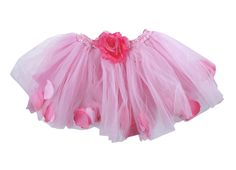 Any time you mix petals with tutus you are bound to have a fabulous style that any little princess will love. Such is true in this gorgeous pettitutu filled with flower petals. This super soft skirt is idea for a dance recital, pageant, and more. You can even incorporate this tulle style into everyday wear with a denim jacket and tennis shoes. The possibilities are endless with this skirt. Skirt has an elastic waistband and is finished with a darling and flower.