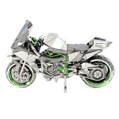 Metal Earth ICONX 3D Laser Cut Model Kit Kawasaki Ninja H2R Motorcycle