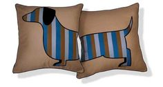 Dachshund pillows ondoyoulovewhereyoulive.com