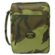 Army of God Bible Cover, Green Camo, Large  -