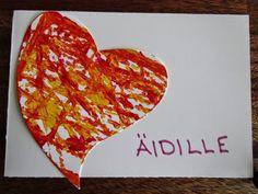 askartelua: Äitienpäiväkortti Only Child, Small Gifts, Fathers Day, Valentines Day, Crafts For Kids, Cards, Inspiration, Art Ideas, Valentines Diy