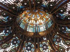 Domed ceiling of Galleries Lafayette, Paris
