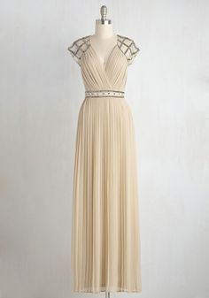 By Guest and By Gosh Dress. Another graceful dress worthy of a goddess! #modcloth #neutral