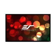 "Elite Screens ezFrame Plus Series White Fixed Frame Projection Screen Viewing Area: 200"" 16:9 Aspect Ratio"