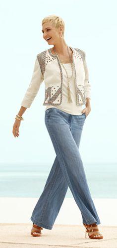 Embellished Artisan Jacket. #DestinationFabulous #travel #summer #chicos