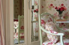 Our longest running print - Antique Rose. Began life in 1993 as wallpaper.