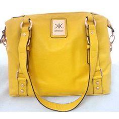 KARDASHIAN KOLLECTION Basic Tote Handbag Yellow