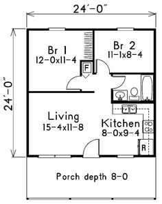 Architecture, Minimalist Square House Plans One Bedroom approx. 700 ...
