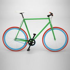 Bike Medium Green, Red And Blue now featured on Fab.