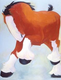 Clydesdale 4  ­ Oil, 96 x 72 by Katie Upton