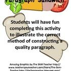 "Paragraph writing is transformed into a ""delicious"" visual with this Paragraph Sandwich Activity!"