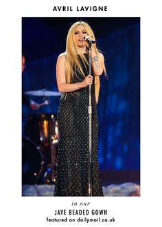 Loving Avril Lavigne in our Fall Jaye gown!