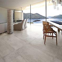 Carrelage Ciment Gris 60 x 120 cm naturel rectifié