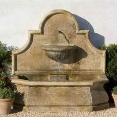 Andaluisa Wall Fountain, Stone Wall Fountains, Garden Wall Fountains >> I would love to have a fountain in my yard! Outdoor Wall Fountains, Stone Fountains, Garden Fountains, Outdoor Walls, Outdoor Decor, Fountain Garden, Outdoor Art, Fountain Ideas, Fountain Design