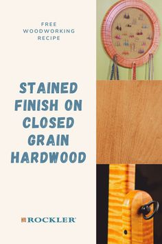 "Close grained hardwoods like birch, maple, cherry and other are tricky to stain successfully. Learn how to get great results by following our step-by-step video ""recipe."" Tap here to watch! #CreateWithConfidence #stained #finish #closedgrain #hardwood"