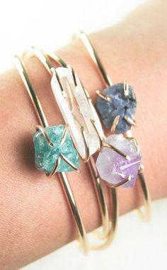 Kai cuff bracelet gemstone cuff gold bracelet by kealohajewelry