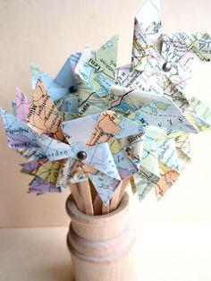 Windmolentjes van landkaarten