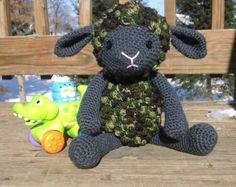 Sheep/Lamb  Stuffed animal  Crochet  by CarolynLouiseCrochet