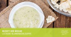 Creamy cauliflower soup is a perfect way to enjoy cruciferous vegetables. Creamy Cauliflower Soup, Cauliflower Soup Recipes, Cheeseburger Chowder, Mashed Potatoes, Recipies, Homemade, Vegetables, Ethnic Recipes, Food