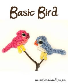 Basic Bird Loom Band Charm Tutorial, instructions and videos on hundreds of loom band designs. Shop online for all your looming supplies, delivery anywhere in SA.