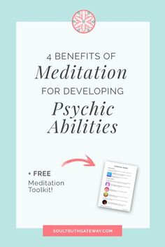 Interested in developing psychic abilities and connecting with spirit guides? Meditation is essential for psychic development. Even if you're a meditation beginner, if you do one thing, then do this. Read this article to find out why and download the FREE Meditation Toolkit! Free Meditation, Meditation Benefits, Meditation For Beginners, Chakra Meditation, Mindfulness Meditation, Meditation Quotes, Psychic Abilities, Psychic Powers, Psychic Development
