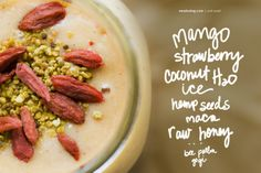 the buzz about bee pollen... and  a smoothie recipe