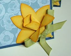 Daffodil from punch art!  Must try this!