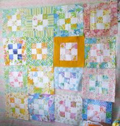 Great quilt idea like the concept maybe not the colors